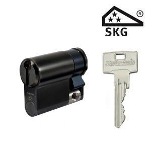 Cilinderslot Pfaffenhain EA zwart SKG3 halve cilinder F14